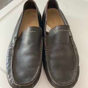 UGG Energ dark brown leather loafers